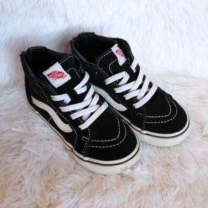 Hi top vans sneakers 9.5c